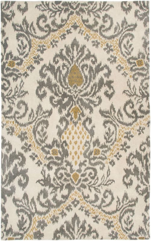 Rizzy Home DT5070 Destiny Hand-Tufted Wool Rug Beige 3 x 5 Home Decor