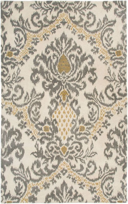 Rizzy Home DT5070 Destiny Hand-Tufted Wool Rug Beige 8 x 10 Home Decor
