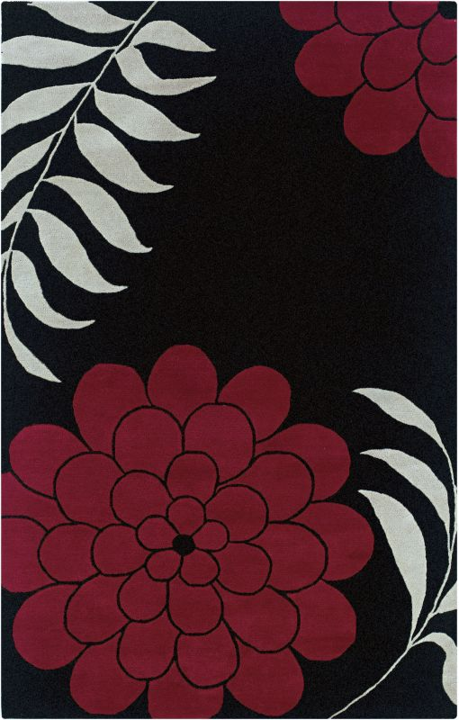 Rizzy Home FN1035 Fusion Hand-Tufted New Zealand Wool Rug Black 2 1/2