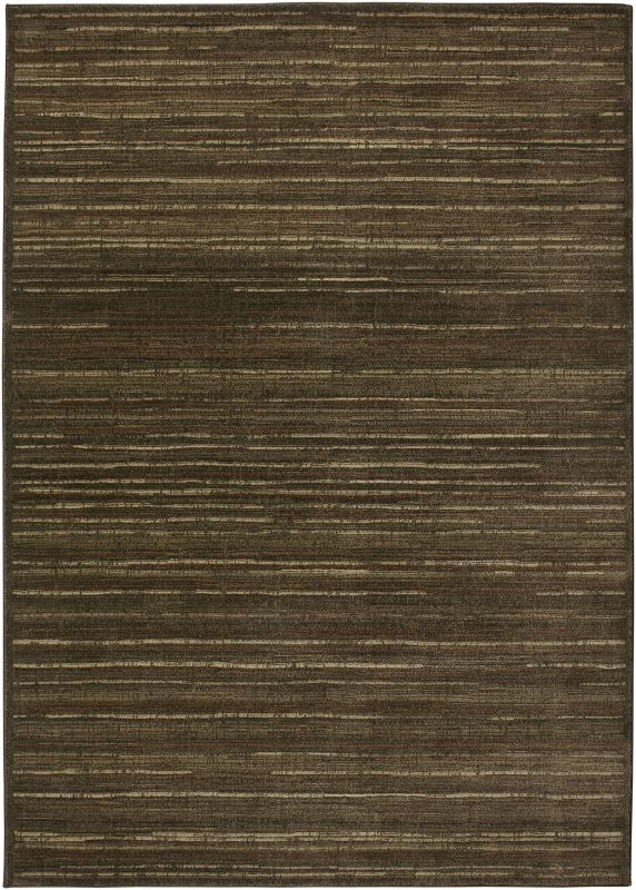 Rizzy Home GA3121 Galleria Power Loomed Polypropylene Rug Brown 2 1/4