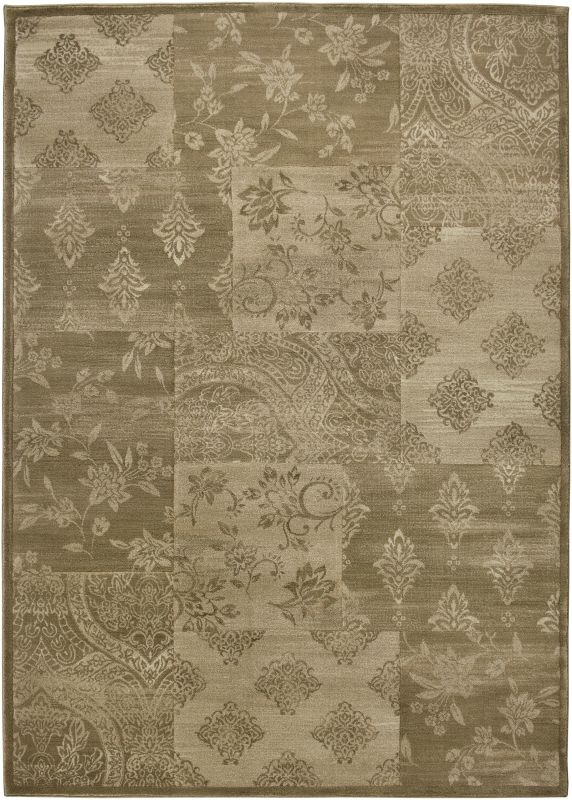 Rizzy Home GA3123 Galleria Power Loomed Polypropylene Rug Gold 4 x 5