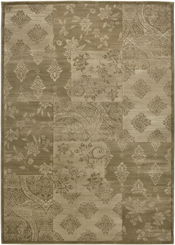 Rizzy Home GA3123 Galleria Power Loomed Polypropylene Rug Gold 5 1/4 x