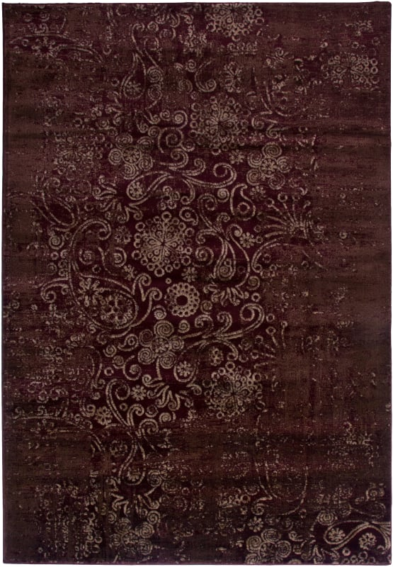 Rizzy Home GA3444 Galleria Power Loomed Polypropylene Rug Red 5 1/4 x