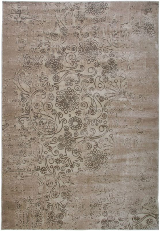 Rizzy Home GA3445 Galleria Power Loomed Polypropylene Rug Ivory 4 x 5