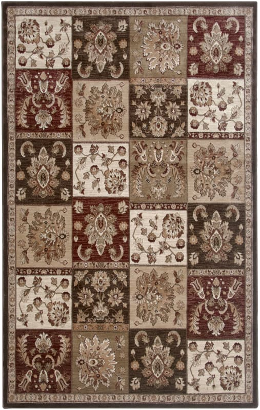 Rizzy Home GA3450 Galleria Power Loomed Polypropylene Rug Brown 4 x 5