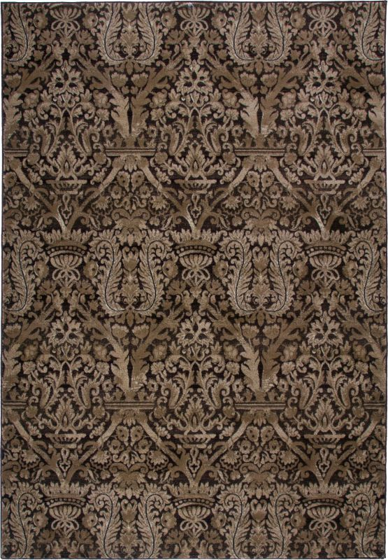 Rizzy Home GA3487 Galleria Power Loomed Polypropylene Rug Brown 4 x 5