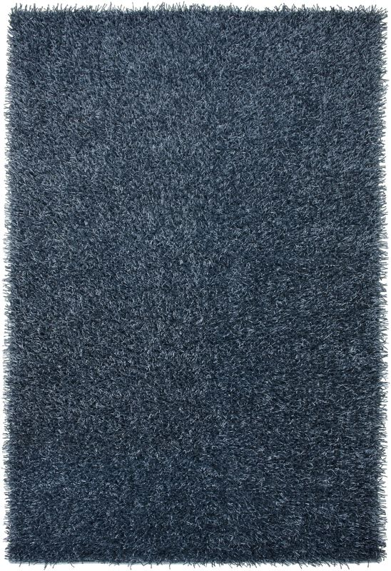 Rizzy Home KM1558 Kempton Hand-Tufted Polyester Rug Slate Blue 3 1/2 x