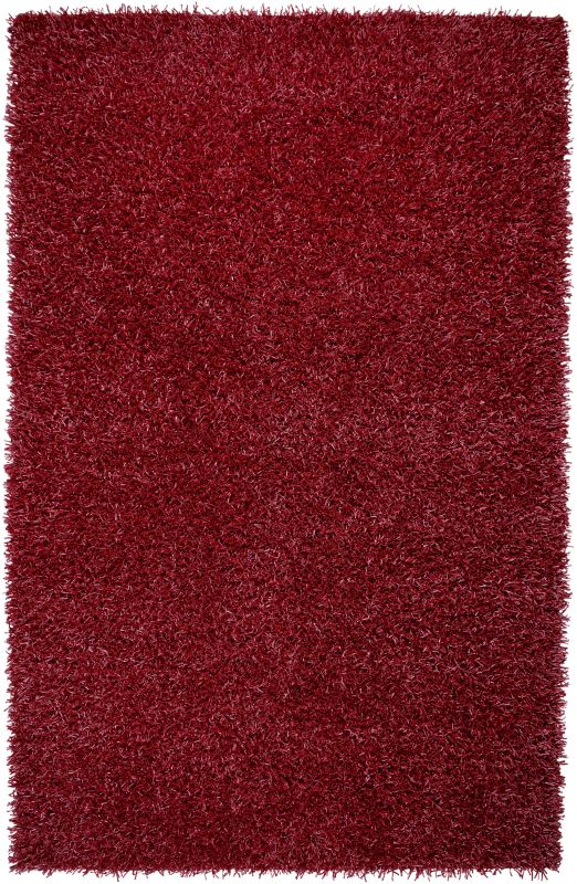Rizzy Home KM2310 Kempton Hand-Tufted Polyester Rug Lipstick Red 8 x