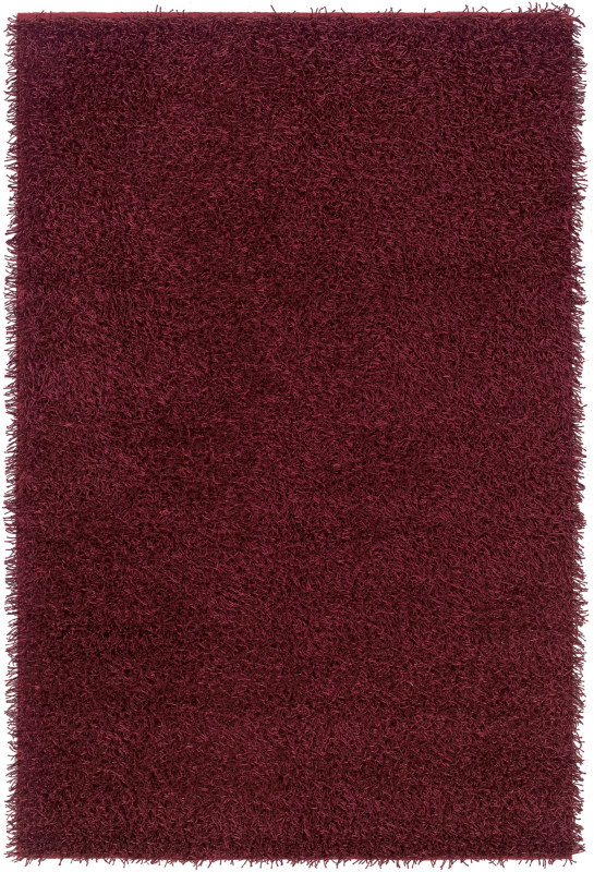 Rizzy Home KM2320 Kempton Hand-Tufted Polyester Rug Burgundy 5 x 7