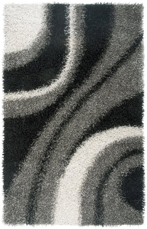 Rizzy Home KM2323 Kempton Hand-Tufted Polyester Rug Gray 5 x 7 Home
