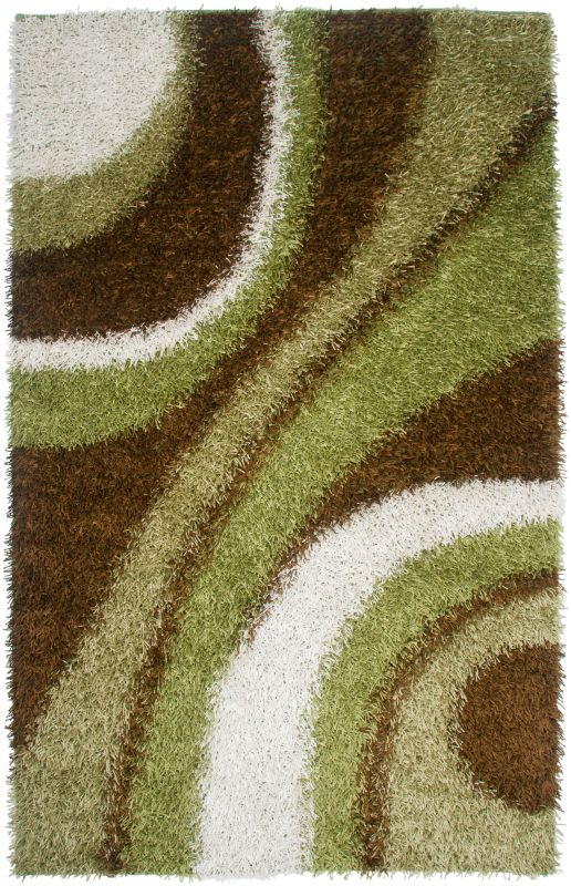 Rizzy Home KM2324 Kempton Hand-Tufted Polyester Rug Green 5 x 7 Home