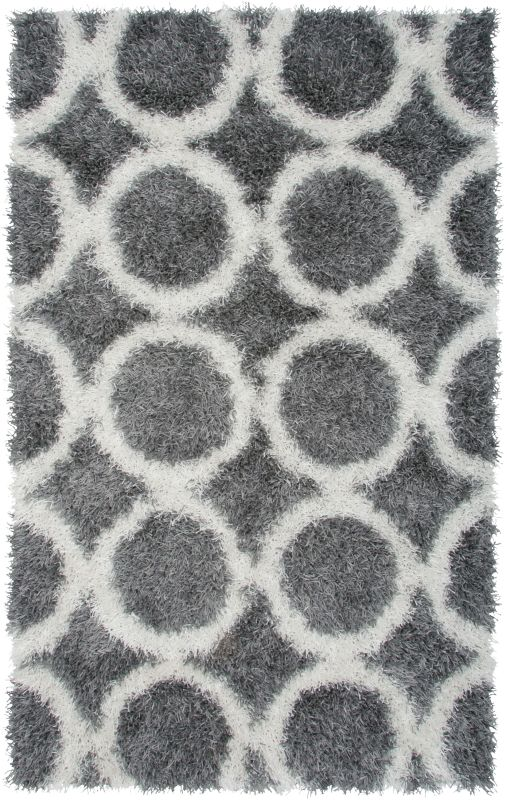 Rizzy Home KM2448 Kempton Hand-Tufted Polyester Rug Gray 3 1/2 x 5 1/2