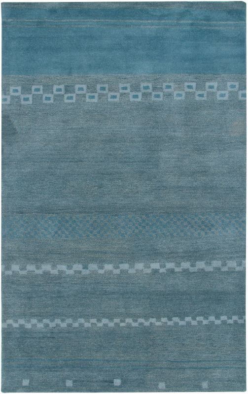 Rizzy Home MV3161 Mojave Hand-Tufted Wool Rug Blue 8 x 10 Home Decor