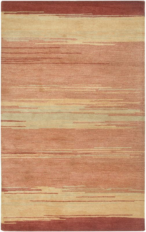 Rizzy Home MV3163 Mojave Hand-Tufted Wool Rug Red 5 x 8 Home Decor