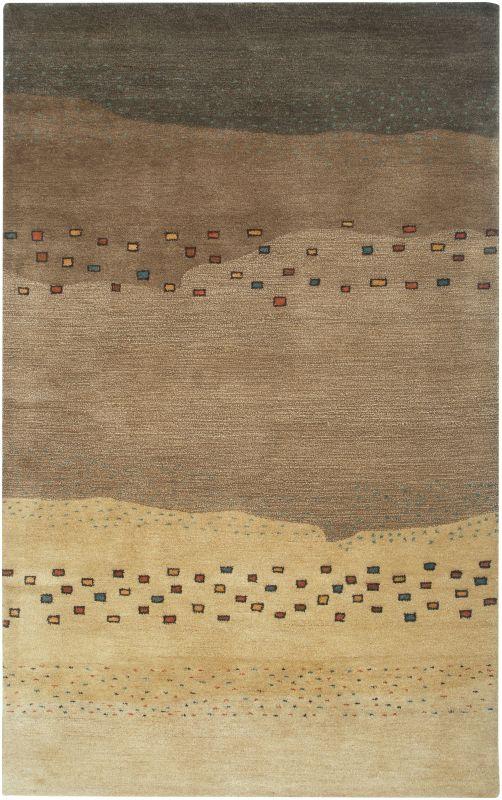 Rizzy Home MV3164 Mojave Hand-Tufted Wool Rug Beige 5 x 8 Home Decor