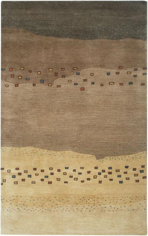 Rizzy Home MV3164 Mojave Hand-Tufted Wool Rug Beige 2 1/2 x 8 Home
