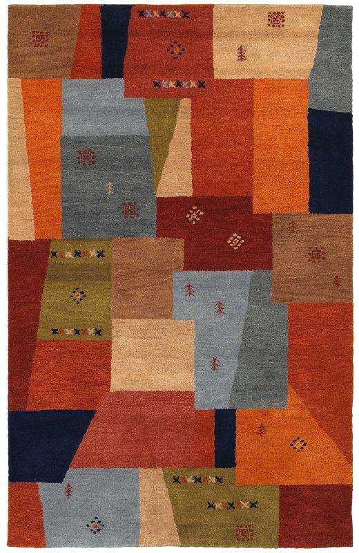 Rizzy Home MV8447 Mojave Hand-Tufted Wool Rug Multi 5 x 8 Home Decor