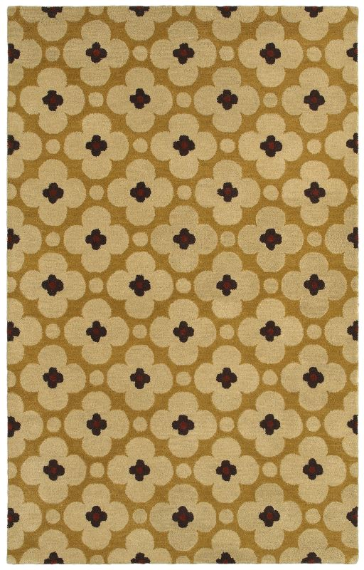 Rizzy Home OP8088 Opus Hand-Tufted Wool Rug Light Gold 3 x 5 Home
