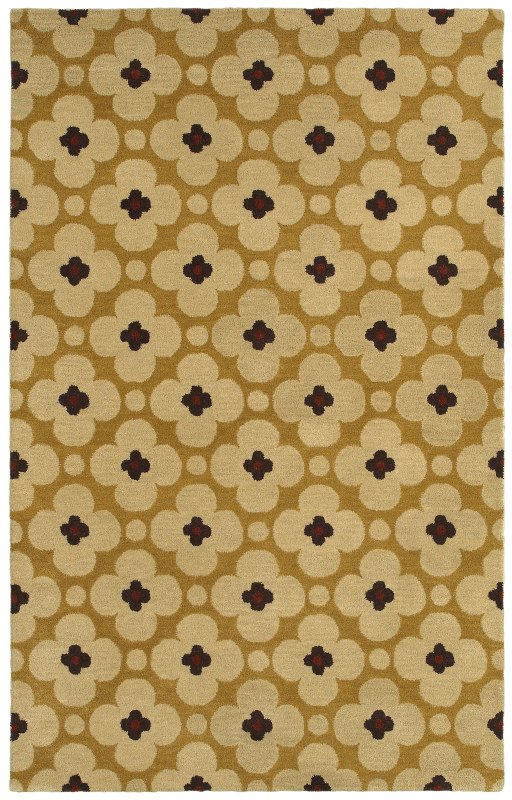 Rizzy Home OP8088 Opus Hand-Tufted Wool Rug Light Gold 5 x 8 Home
