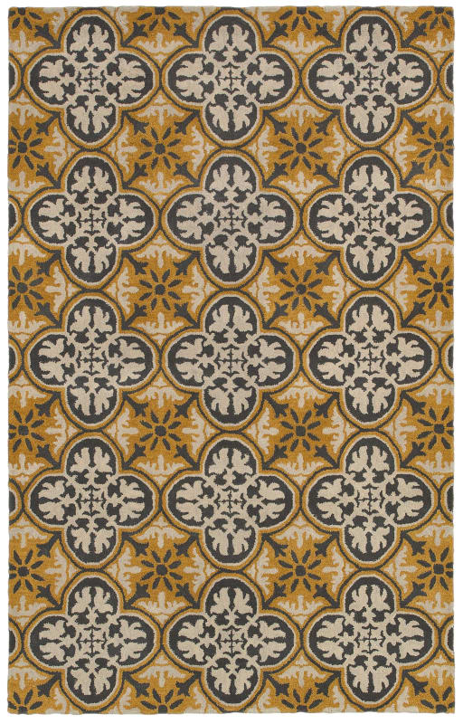 Rizzy Home OP8100 Opus Hand-Tufted Wool Rug Gold 2 x 3 Home Decor Rugs