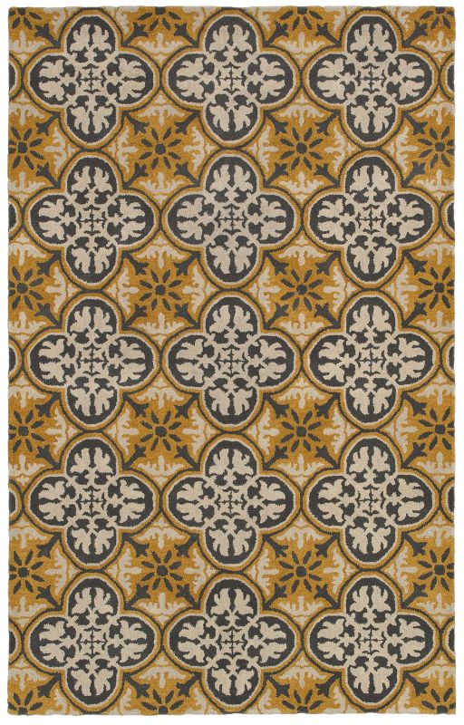 Rizzy Home OP8100 Opus Hand-Tufted Wool Rug Gold 5 x 8 Home Decor Rugs