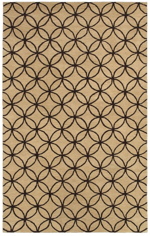 Rizzy Home OP8114 Opus Hand-Tufted Wool Rug Beige / Brown 8 x 10 Home