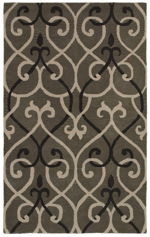 Rizzy Home OP8118 Opus Hand-Tufted Wool Rug Gray 5 x 8 Home Decor Rugs