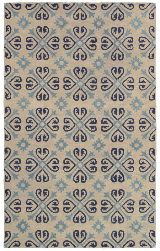 Rizzy Home OP8136 Opus Hand-Tufted Wool Rug Ivory 5 x 8 Home Decor