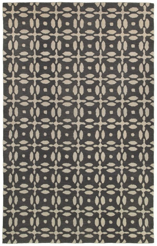 Rizzy Home OP8231 Opus Hand-Tufted Wool Rug Gray 5 x 8 Home Decor Rugs