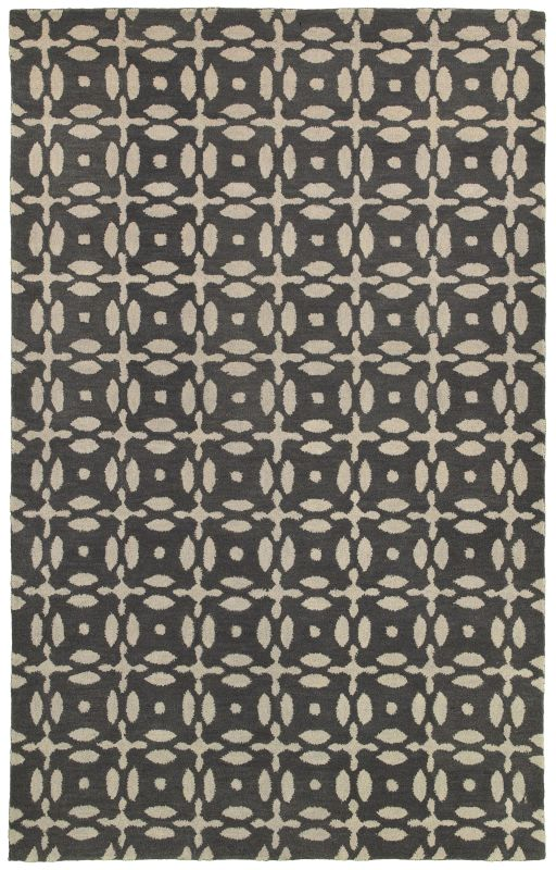 Rizzy Home OP8231 Opus Hand-Tufted Wool Rug Gray 8 x 10 Home Decor