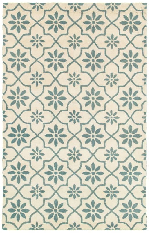 Rizzy Home OP8234 Opus Hand-Tufted Wool Rug White 8 x 10 Home Decor