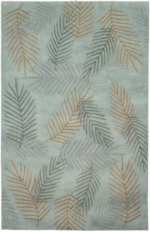 Rizzy Home PR0205 Pandora Hand-Tufted New Zealand Wool Rug Light Blue