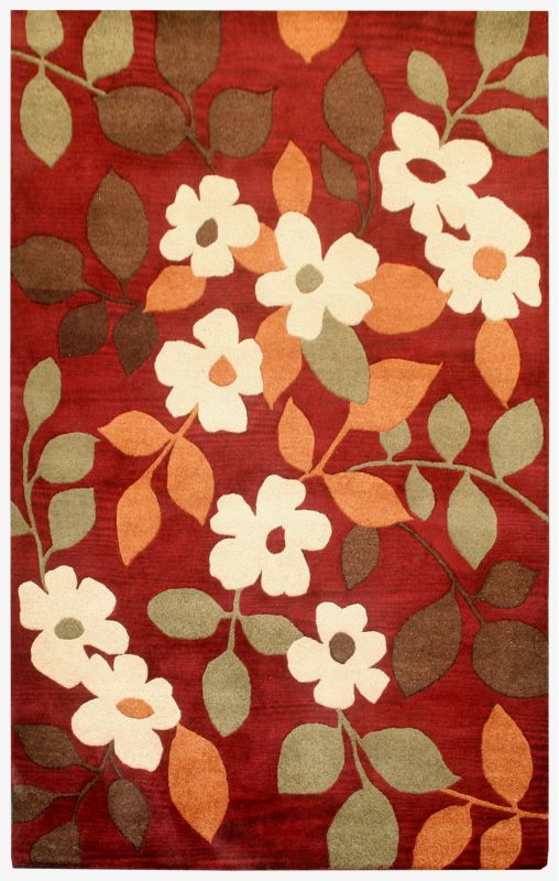 Rizzy Home PR0830 Pandora Hand-Tufted New Zealand Wool Rug Burgundy 5