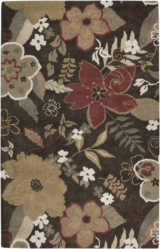 Rizzy Home PR1741 Pandora Hand-Tufted New Zealand Wool Rug Brun 3 x 5