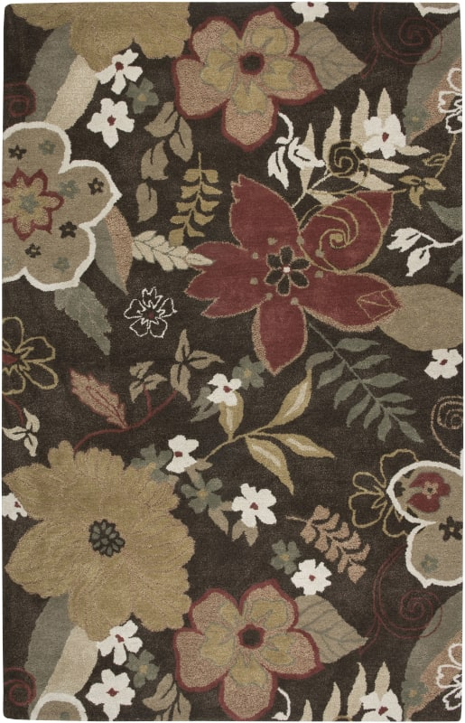 Rizzy Home PR1741 Pandora Hand-Tufted New Zealand Wool Rug Brun 5 x 8