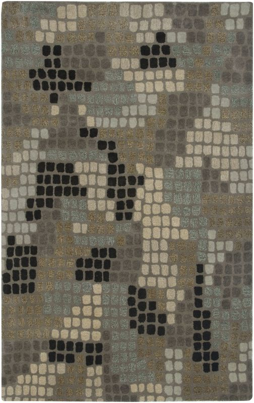 Rizzy Home PR2059 Pandora Hand-Tufted New Zealand Wool Rug Brown 5 x 8
