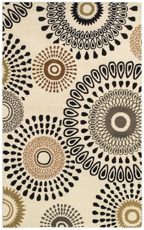 Rizzy Home PR8093 Pandora Hand-Tufted New Zealand Wool Rug White 3 x 5