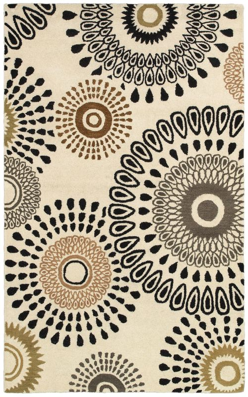 Rizzy Home PR8093 Pandora Hand-Tufted New Zealand Wool Rug White 2 1/2