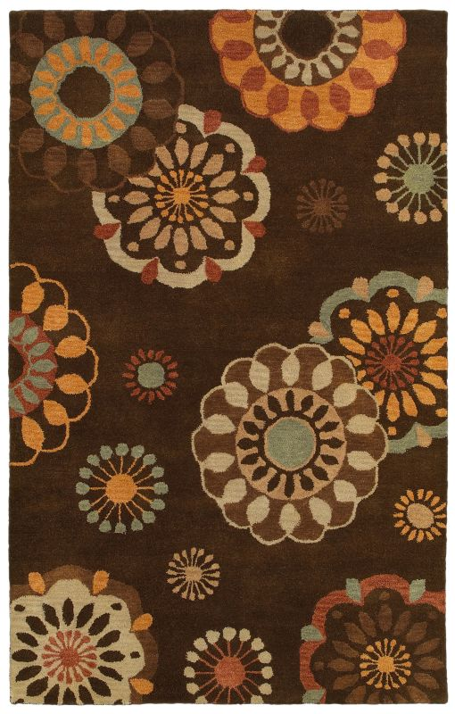 Rizzy Home PR8116 Pandora Hand-Tufted New Zealand Wool Rug Brown 3 x 5