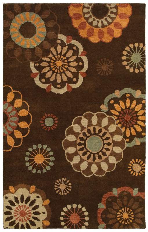 Rizzy Home PR8116 Pandora Hand-Tufted New Zealand Wool Rug Brown 8 x