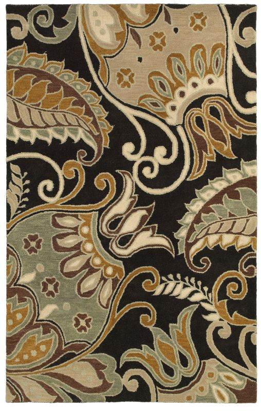 Rizzy Home PR8142 Pandora Hand-Tufted New Zealand Wool Rug Charcoal 2 Sale $160.00 ITEM: bci2616074 ID#:PANPR814200162608 UPC: 844353840162 :