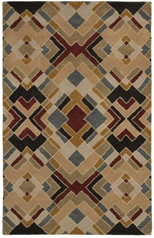 Rizzy Home PR8144 Pandora Hand-Tufted New Zealand Wool Rug Beige 3 x 5