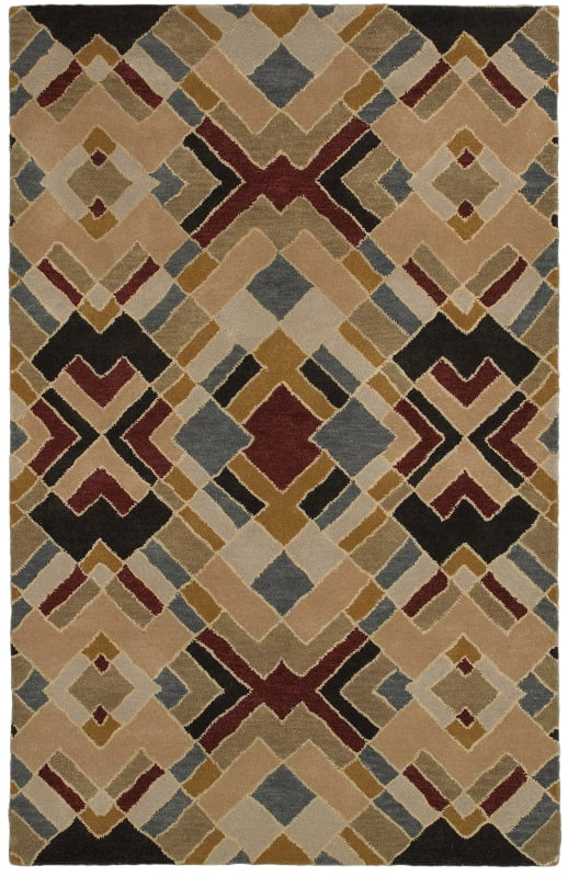 Rizzy Home PR8144 Pandora Hand-Tufted New Zealand Wool Rug Beige 8 x