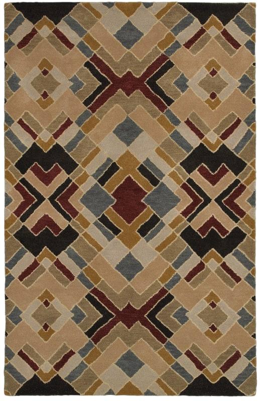 Rizzy Home PR8144 Pandora Hand-Tufted New Zealand Wool Rug Beige 2 1/2