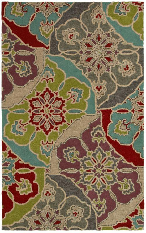 Rizzy Home PR8145 Pandora Hand-Tufted New Zealand Wool Rug Multi 5 x 8