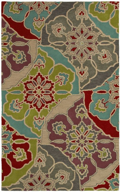 Rizzy Home PR8145 Pandora Hand-Tufted New Zealand Wool Rug Multi 2 1/2