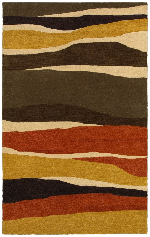 Rizzy Home PR8146 Pandora Hand-Tufted New Zealand Wool Rug Rust 5 x 8