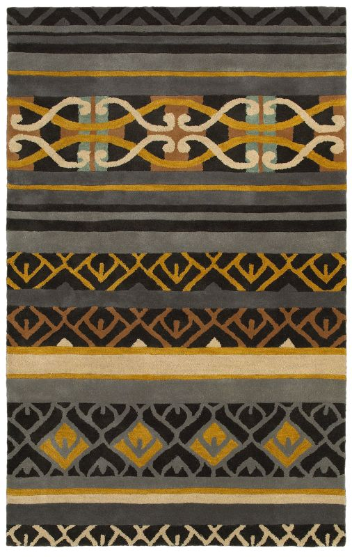 Rizzy Home PR8182 Pandora Hand-Tufted New Zealand Wool Rug Charcoal 2