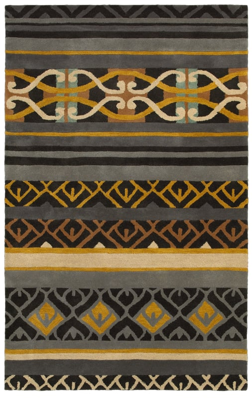 Rizzy Home PR8182 Pandora Hand-Tufted New Zealand Wool Rug Charcoal 5 Sale $307.20 ITEM: bci2618511 ID#:PANPR818200160508 UPC: 844353837711 :