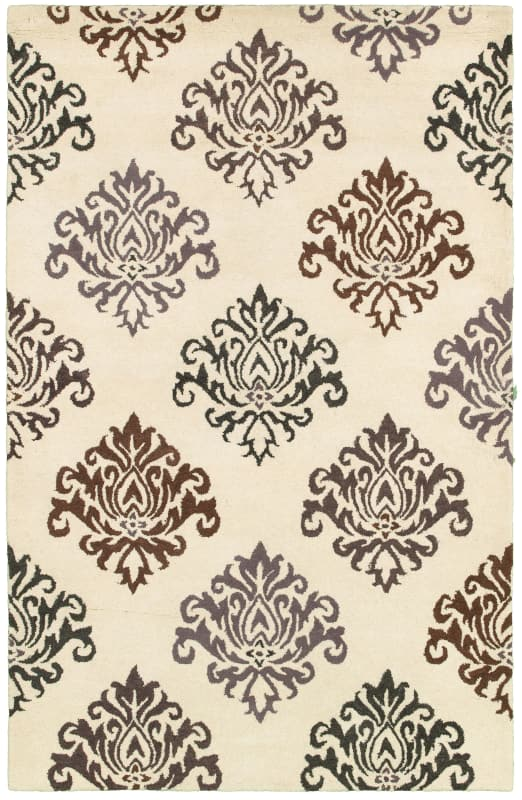 Rizzy Home PR8235 Pandora Hand-Tufted New Zealand Wool Rug White 2 x 3